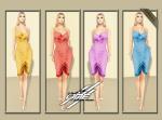 DQ...Tube Satin Dress ( FATPACK )